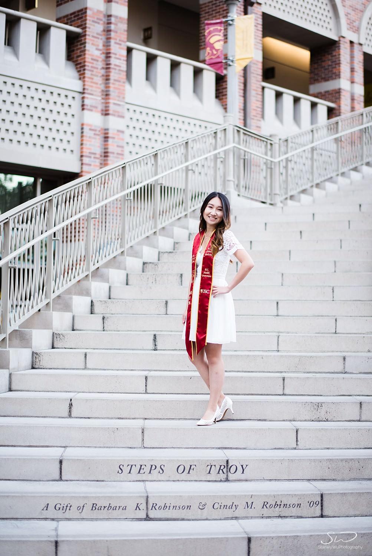 Steps of Troy at USC | Los Angeles Orange County Senior Portrait & Wedding Photographer