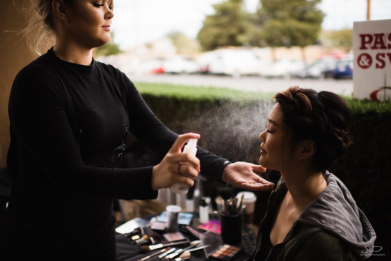 Hairspray bridal makeup | Joshua Tree Desert Wedding & Engagement Inspiration