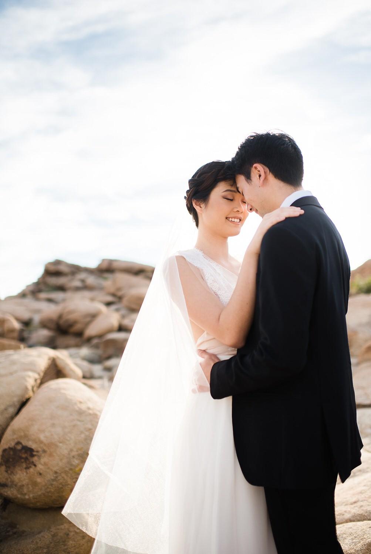 Couple portrait looking at each other | Joshua Tree Desert Wedding, Engagement, Elopement, Adventure Inspiration