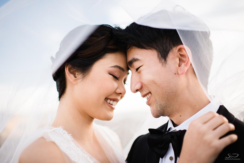 Couple hugging head to head | Joshua Tree Desert Wedding, Engagement, Elopement, Adventure Inspiration