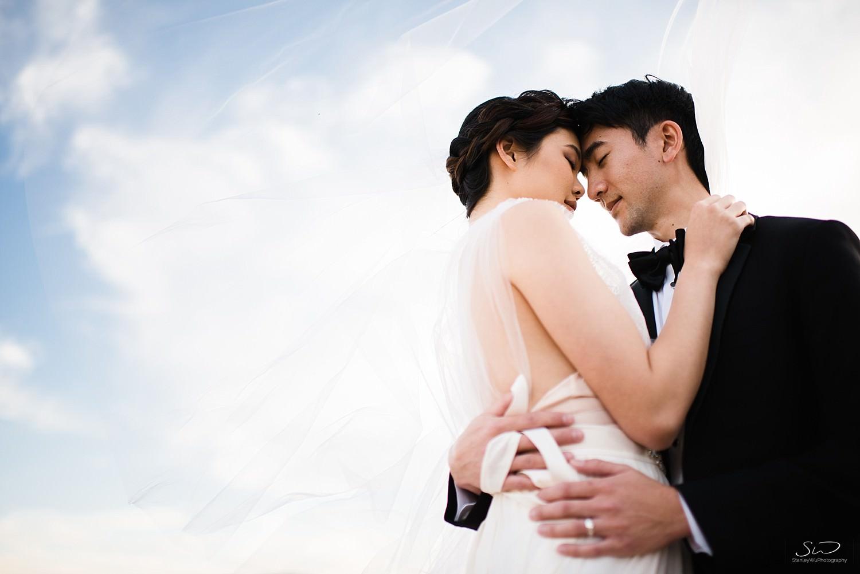 Dramatic couple portrait with blue skies | Joshua Tree Desert Wedding, Engagement, Elopement, Adventure Inspiration