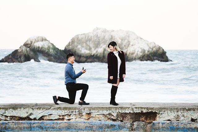 Surprise!💍⠀ ⠀ -⠀ -⠀ -⠀ #losangelesweddingphotographer #proposal #sutrobath #ocweddingphotographer #losangelesengagementphotographer #weddingphotography #justengaged #justmarried #weddinginspiration #engagementinspiration #engagementphotography #adventuresession #couplesphotography #theknot #weddingwire