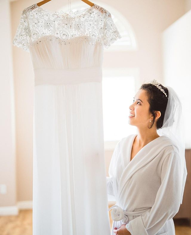 Protip: get a nice wooden hanger for your wedding day - ditch the plastic one.⁠ -⁠ Here's @hsayono31 looking stunning on her wedding day with @samleejoice!⁠ -⁠ -⁠ -⁠ #diamondbarwedding #losangelesweddingphotographer #ocweddingphotographer #losangelesengagementphotographer #weddingphotography #justengaged #justmarried #weddinginspiration #engagementinspiration #engagementphotography #adventuresession #couplesphotography #theknot #weddingwire