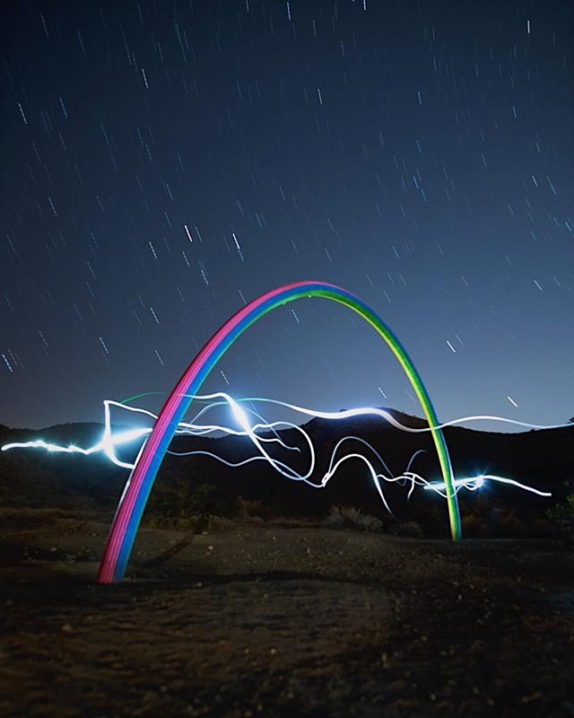 "Looking for treasure at the end of a rainbow. 🌈 #LoversRainbow  A rainbow at night is a crazy concept. I've heard of a moonbow created during a full moon mixing with a raging waterfall, but never seen one. ⠀⠀⠀⠀⠀⠀⠀⠀⠀⠀⠀⠀⠀⠀⠀⠀⠀ ⠀⠀⠀⠀⠀⠀⠀⠀⠀ 📸 Nikon D810 🔭 Rokinon 24mm f/1.4 ⠀⠀⠀⠀⠀⠀⠀⠀⠀⠀⠀⠀⠀⠀⠀⠀⠀ ⠀⏰ 25"" ISO800 🔺 Gitzo GT2541"