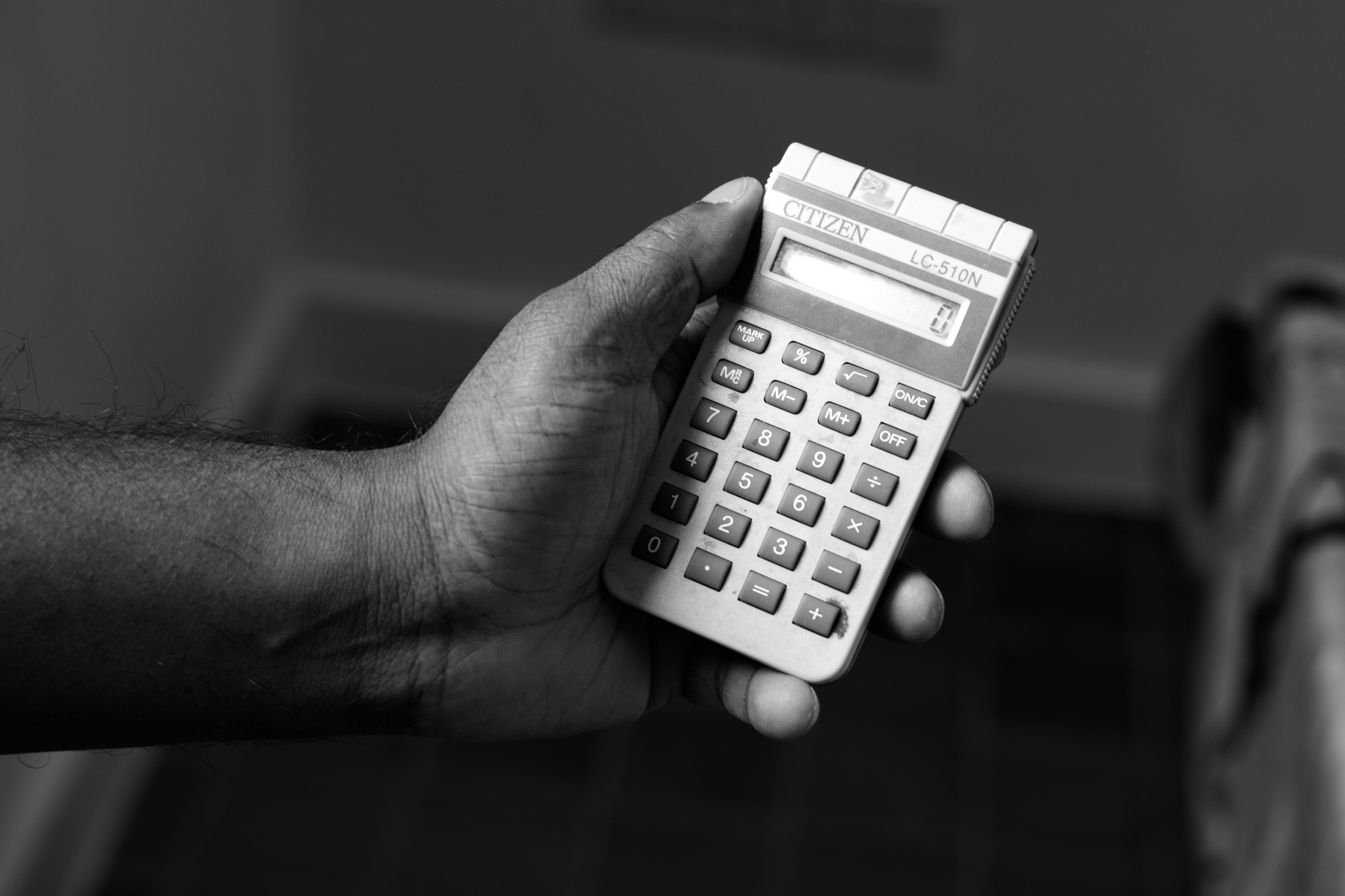 'You don't do this for the money'; at times in his career Kit has used this calculator to stay in budget for their weekly shop.