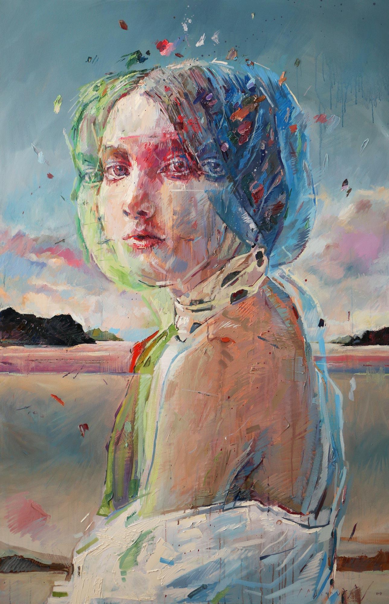 Ascendance (Kristina Habicht) . Oil and acrylic on canvas.180cm x 116cm.