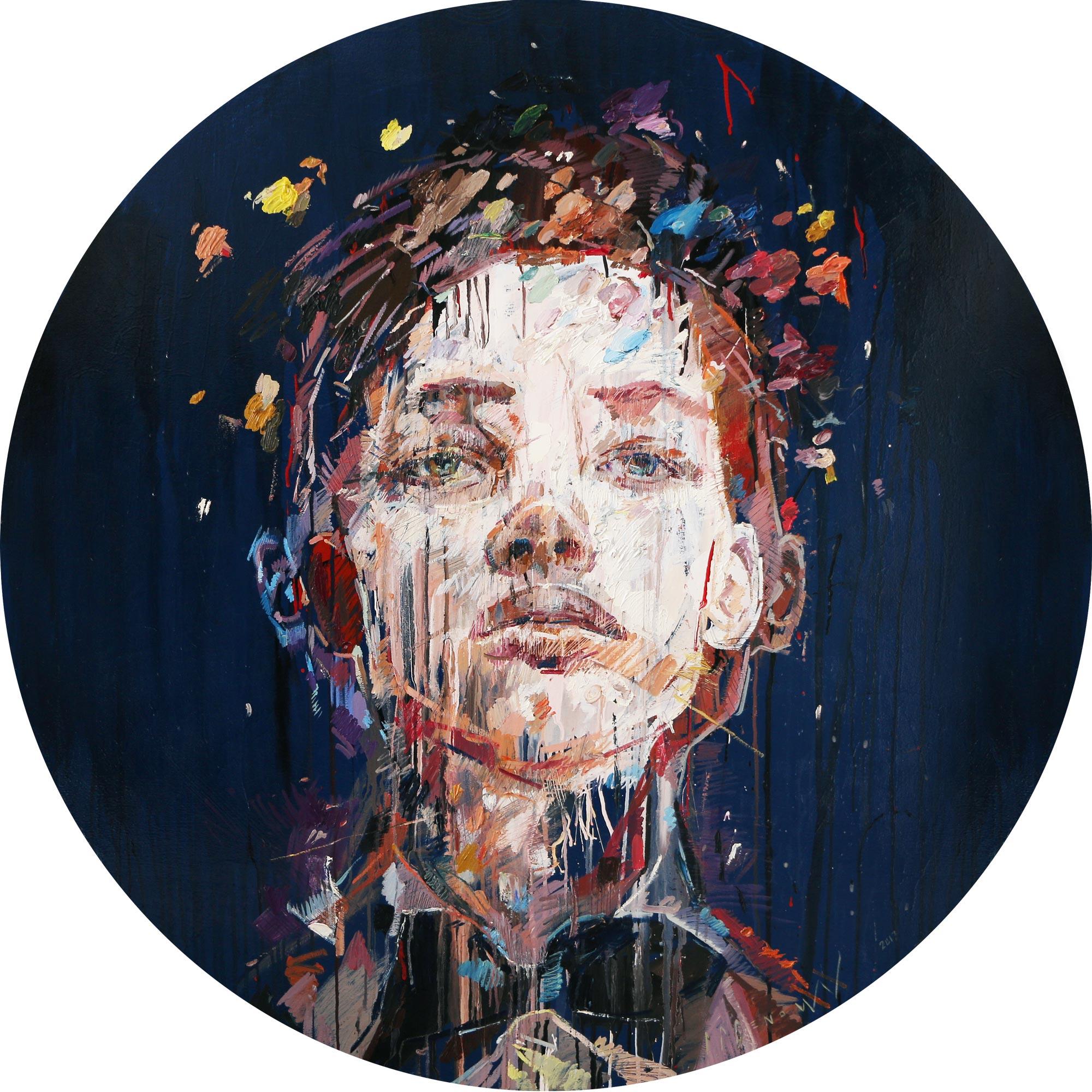 Embellish (Nikephoros Rossi) . Oil on canvas. 130cm diameter.
