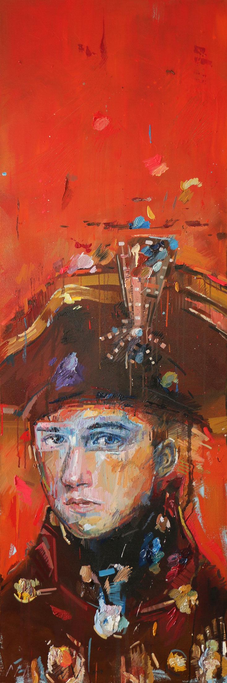 Execution (Michelangelo Scott) .Oil on canvas. 180cm x 60cm.
