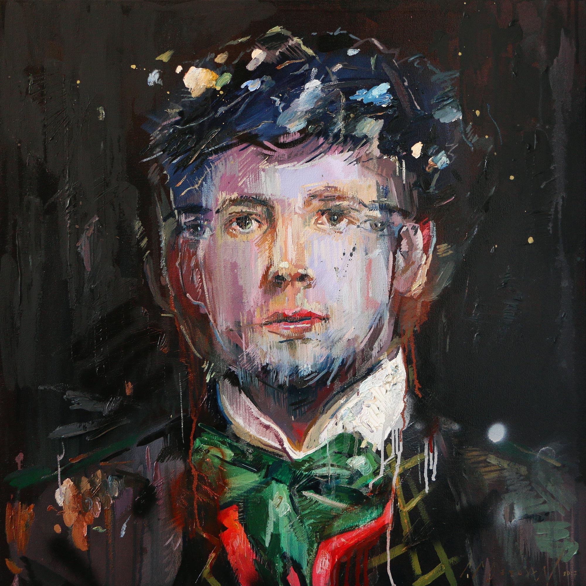 Bind (Teutorigos Sauvageau). Oil on canvas.80cm x 80cm.