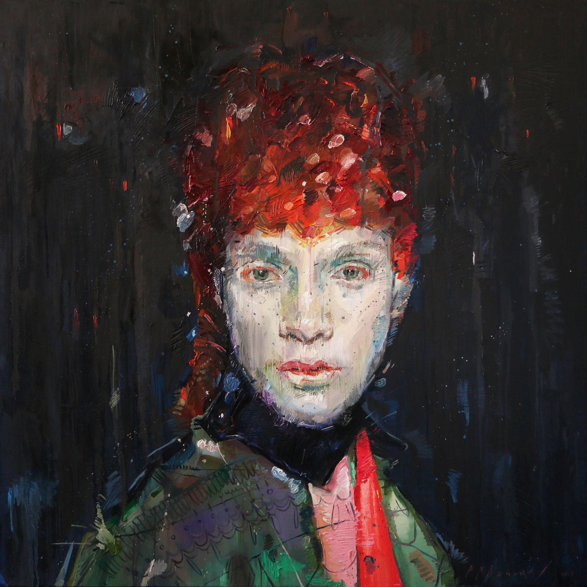 Ambivalence (Chanda Losnedahl). Oil on canvas.130cm x 130cm.