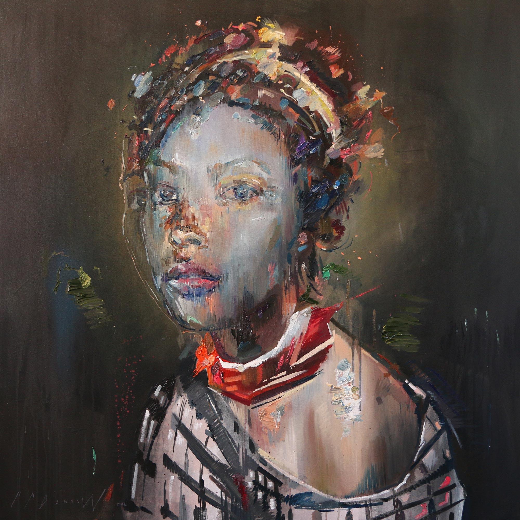 Corroded Neon (Anne Ariesen).  Oil on canvas.130cm x 130cm.