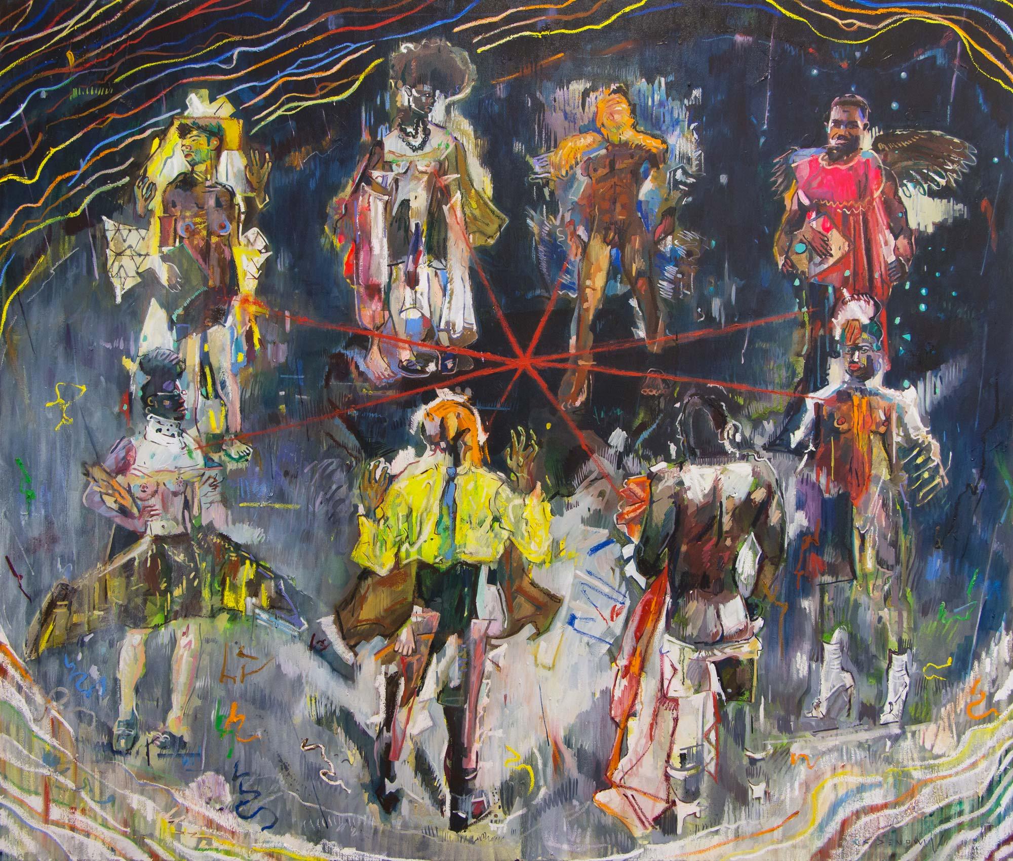 Still Dance. Oil and acrylic on canvas.170cm x 200cm