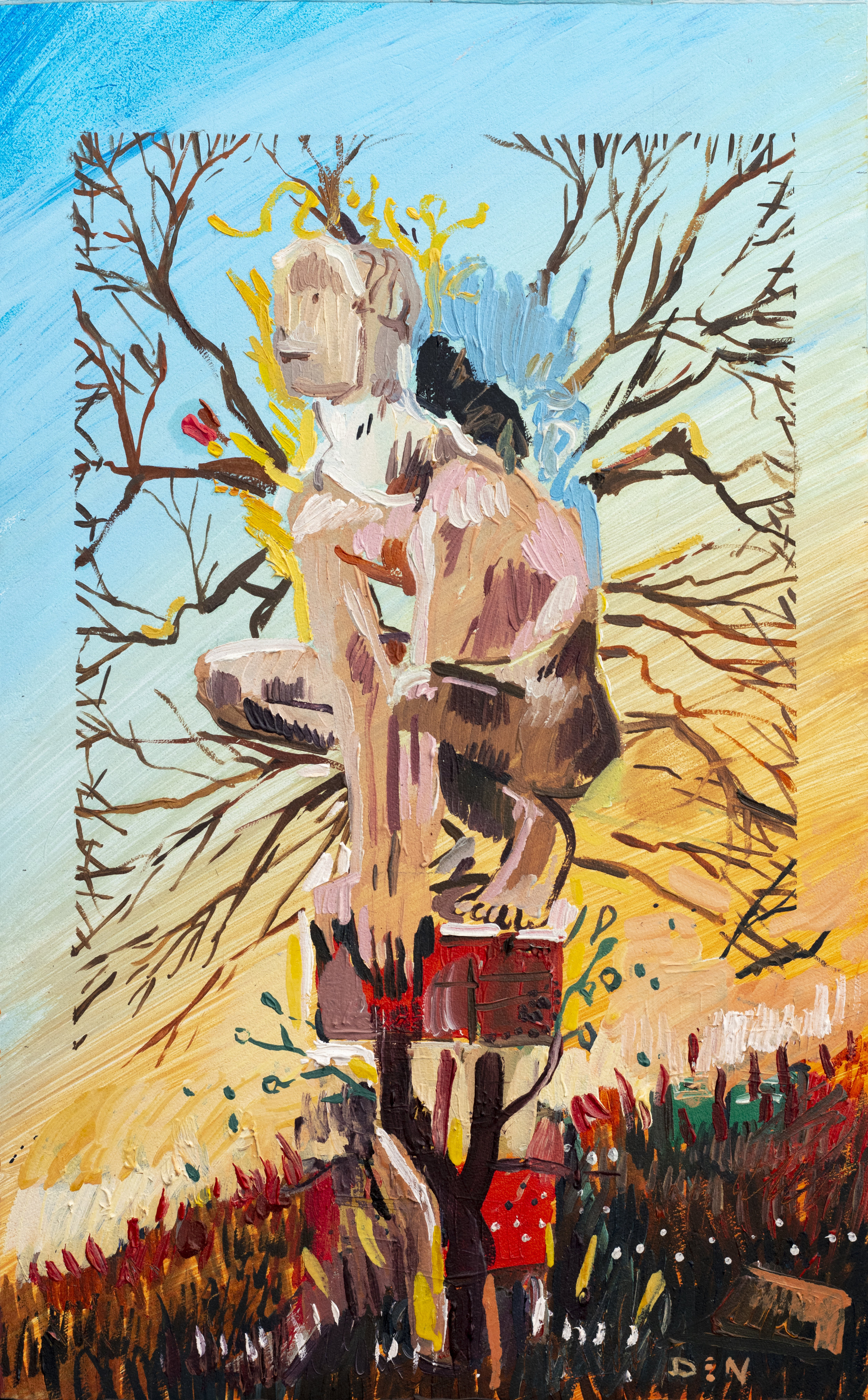 Branches Made of Man, 2019, Oil on Board, 25cm x 40cm
