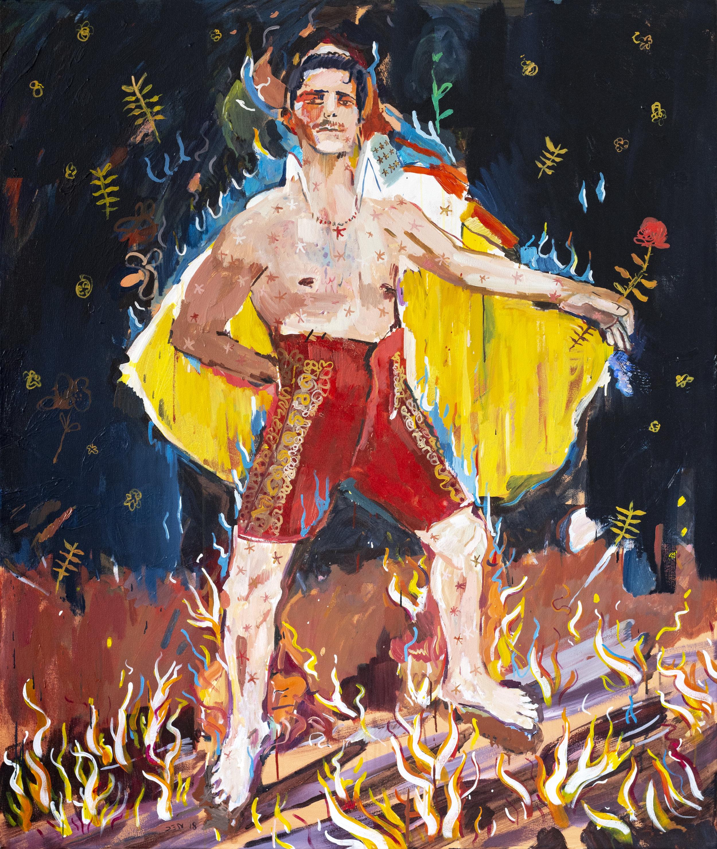 Devil in the Cape, 2019, Oil on Canvas, 140cm x 165cm