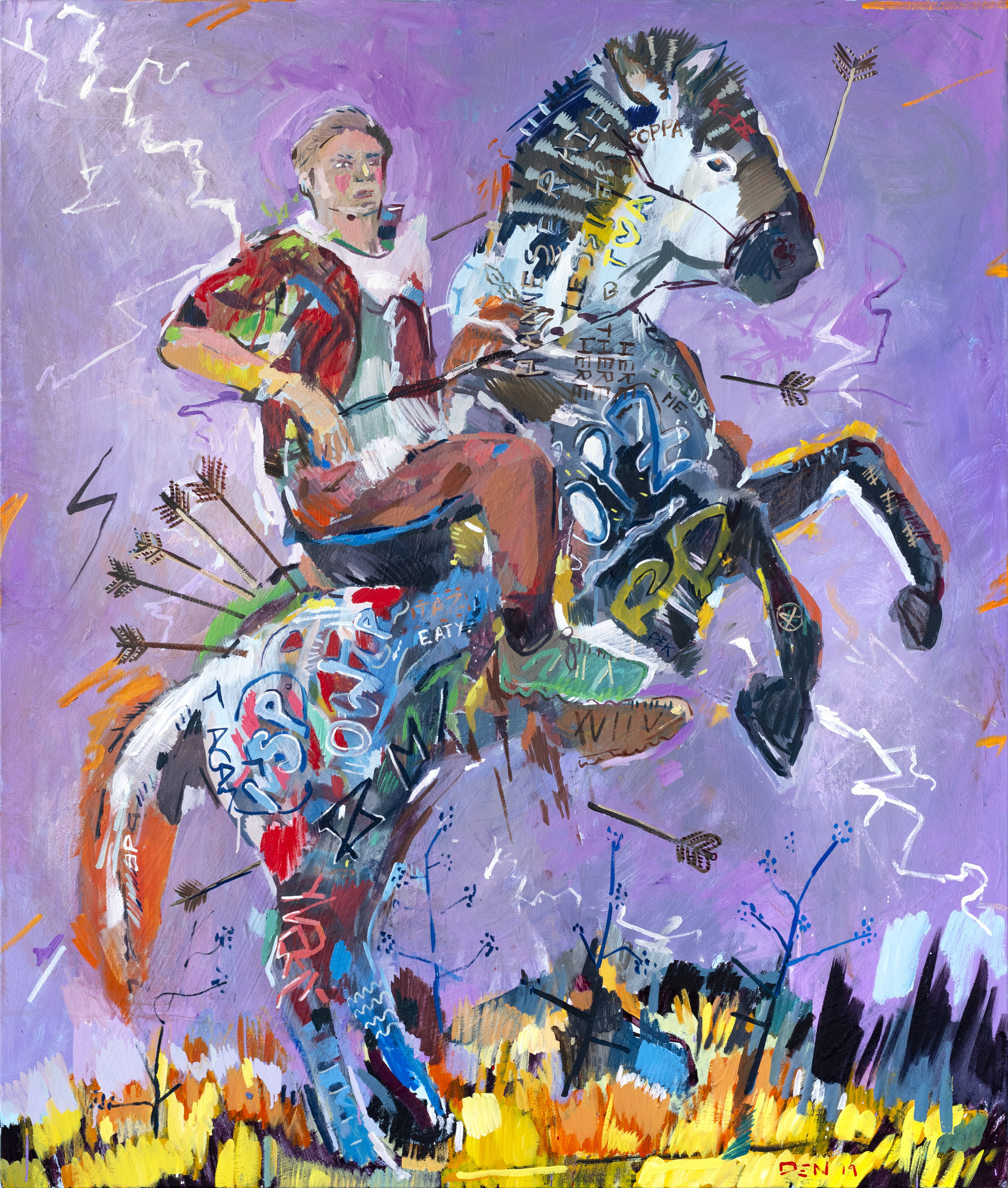 Aaron the Archer, 2019, Oil on Canvas, 140cm x 165cm