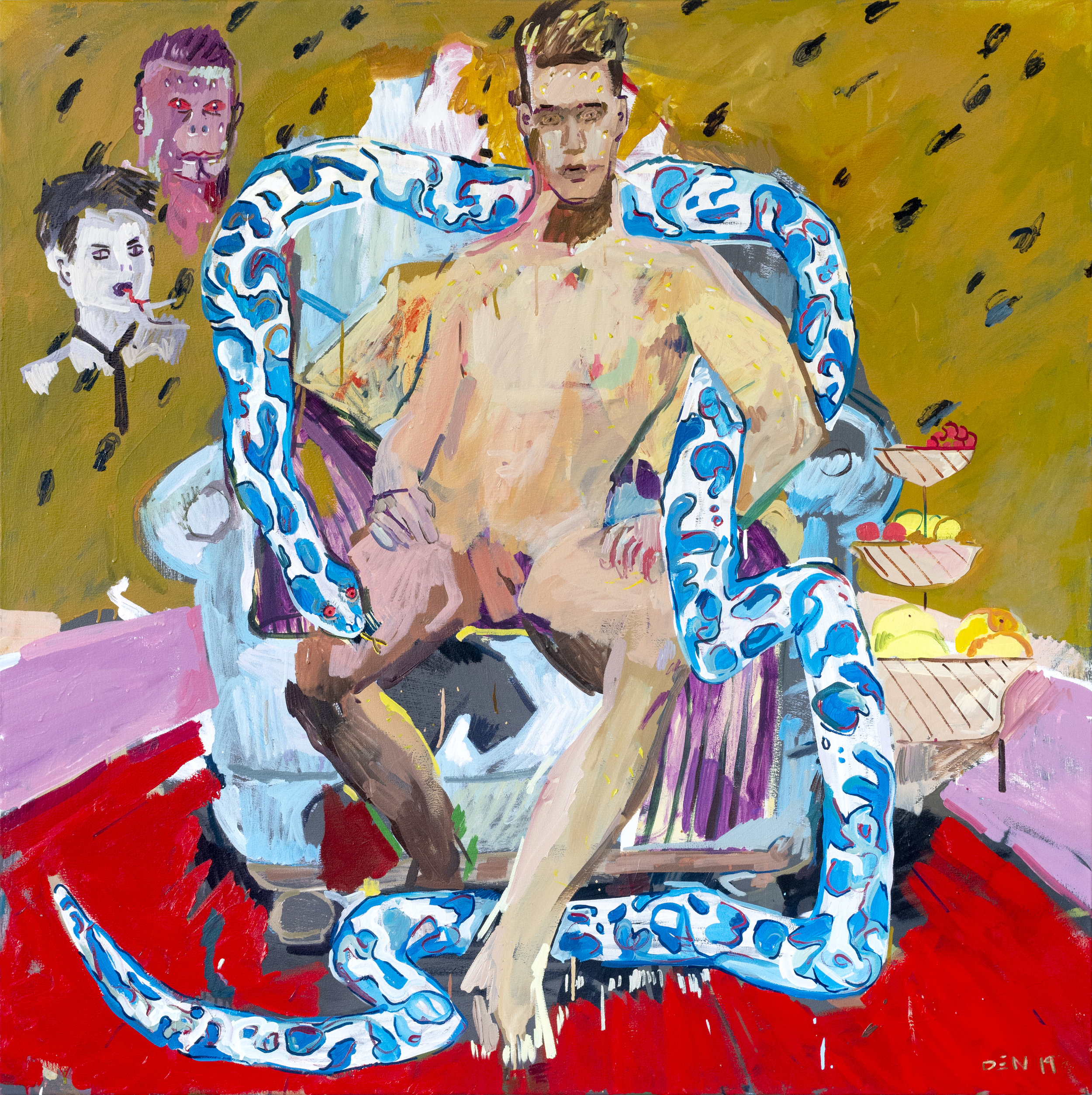 Snake Pit, 2019, Oil on Canvas, 140cm x 140cm