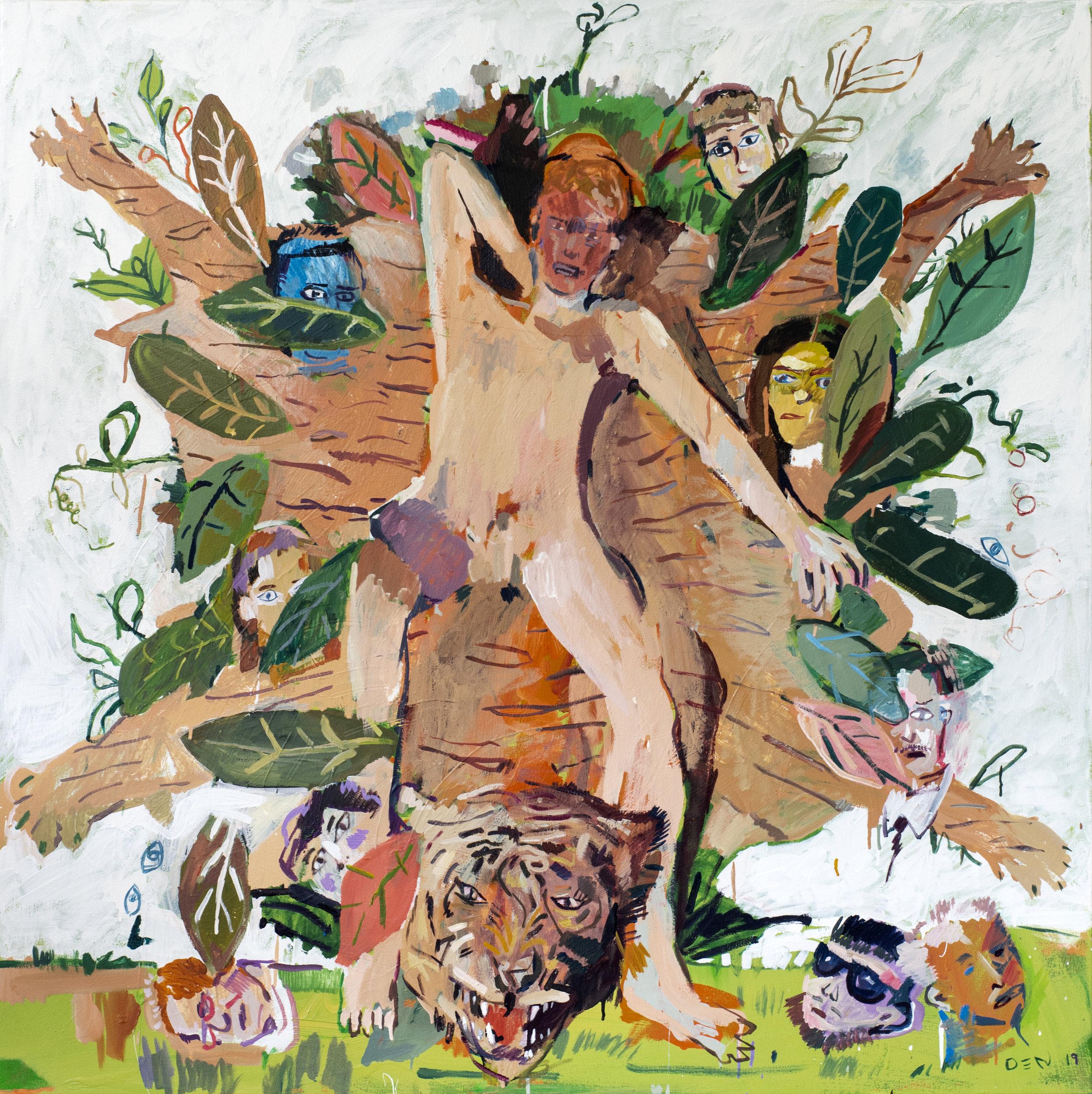 Peekaboo, 2019, Oil on Canvas, 140cm x 140cm