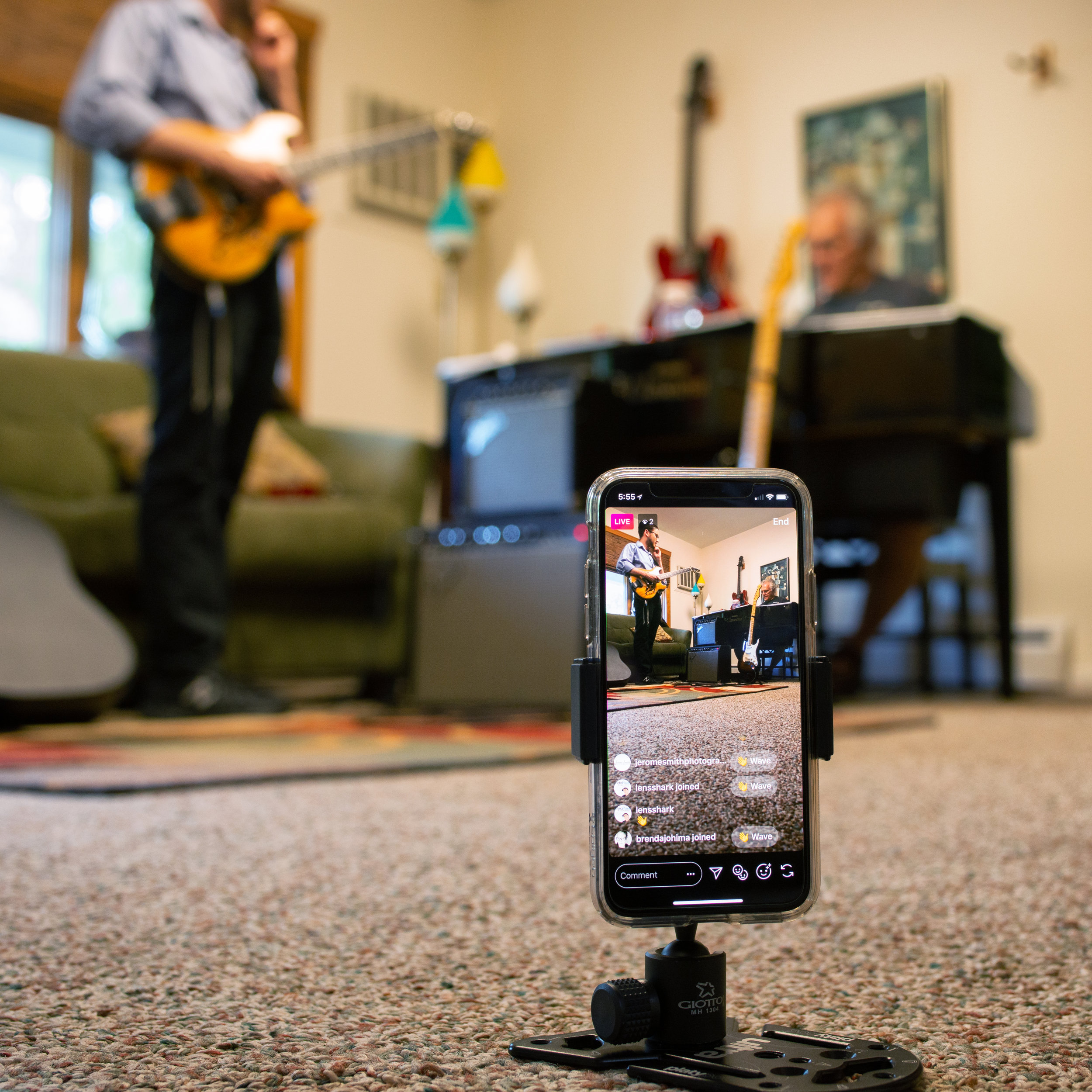 Instagram live jam session with Rick Sammon and Aryeh Tiefenbrunn