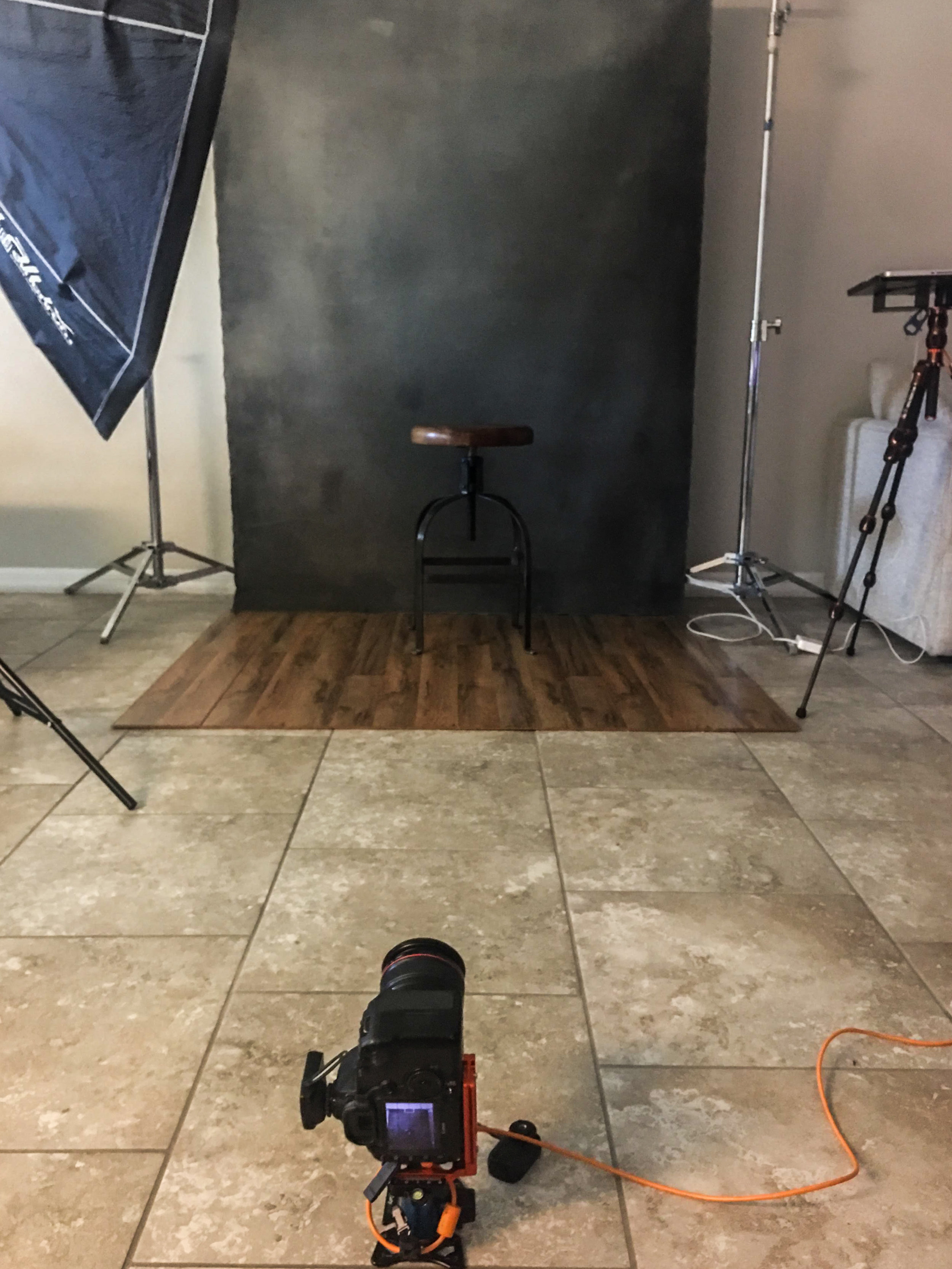 One of the tricks I use to set my focus is placing a light stand where I'll be standing, set my focus, lock it, then replace the light stand with myself.