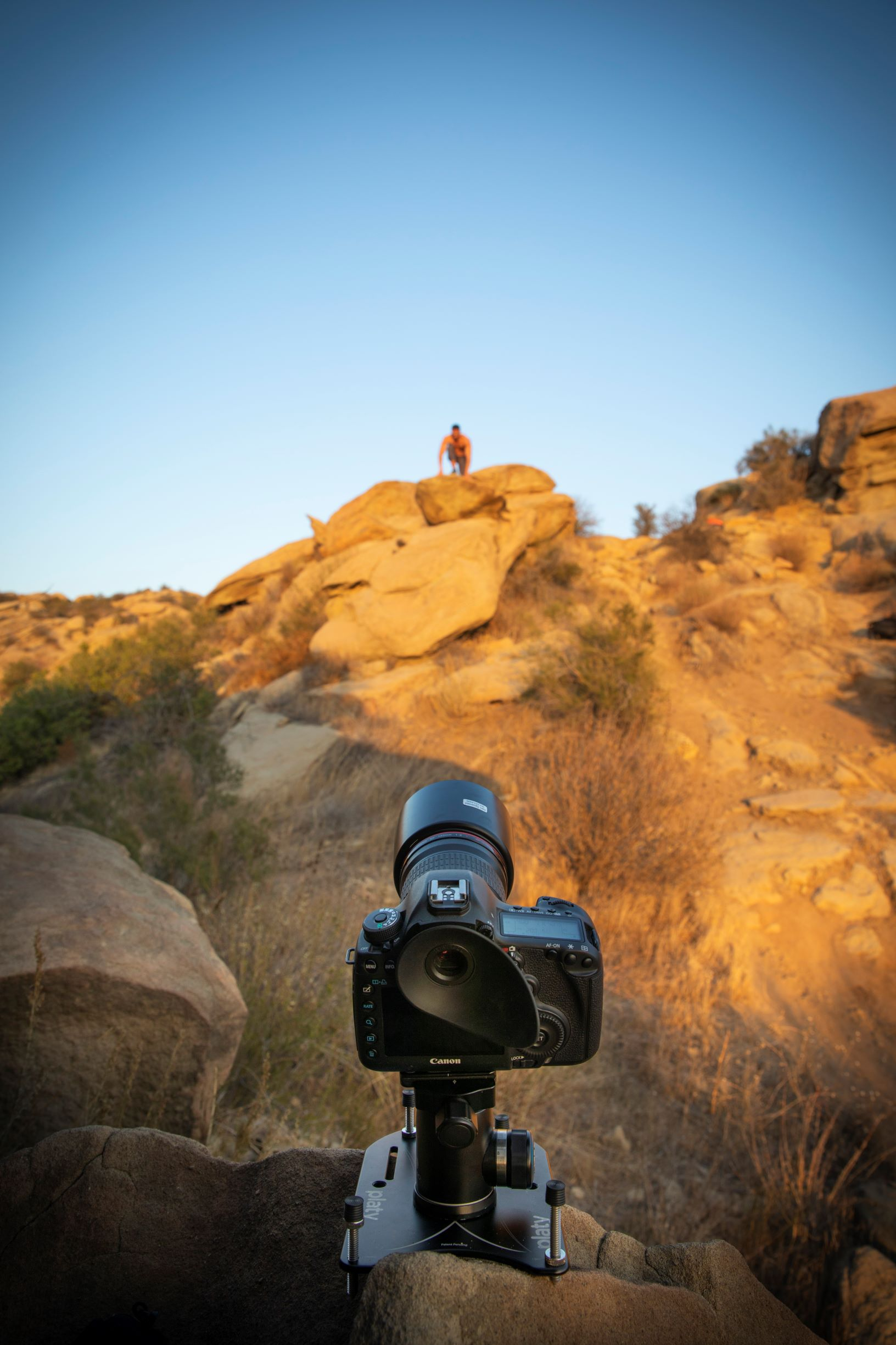 Setting up my 5DMark3 with a 135 mm Lens on    Platypod Max    is quick and easy, even in rough terrain. I set this camera up as I continued to shoot with my other camera and I waited for the light to drop. © Ian Spanier Photography 2018.
