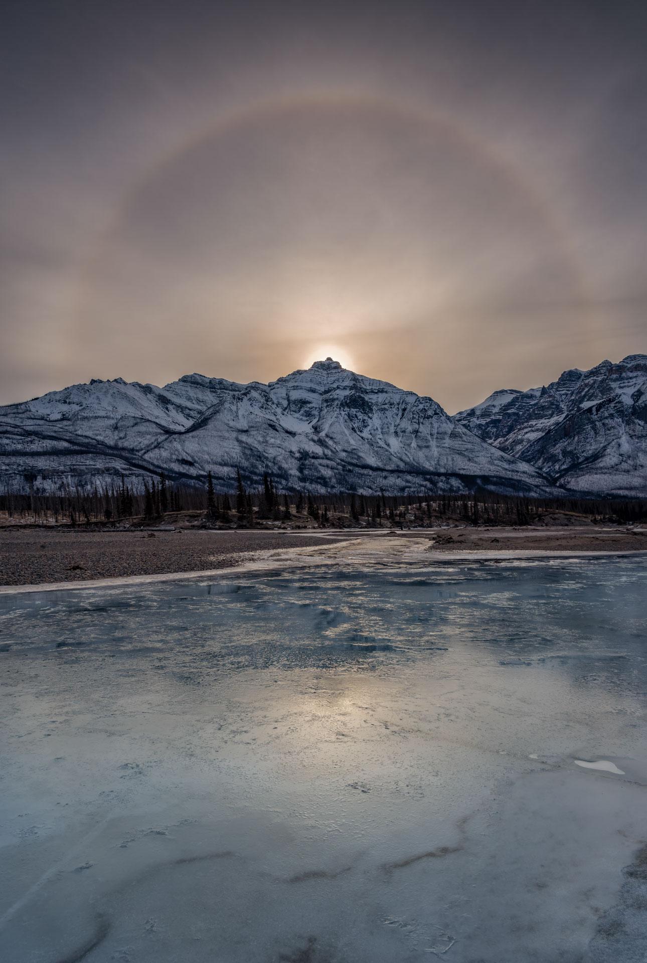 A sun halo near Abraham Lake, Alberta (shot with Platypod).jpg