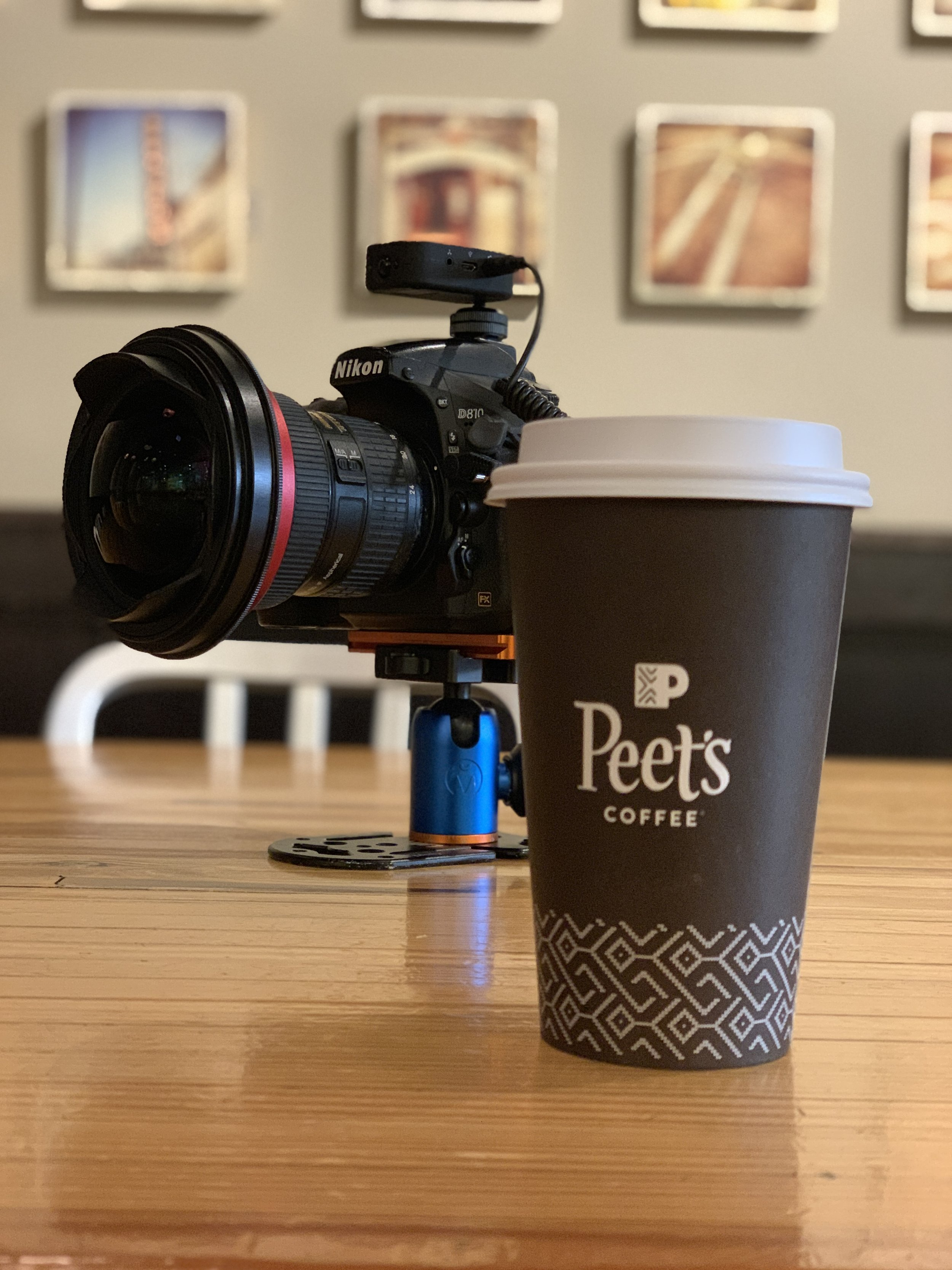 Peets coffee table top photography