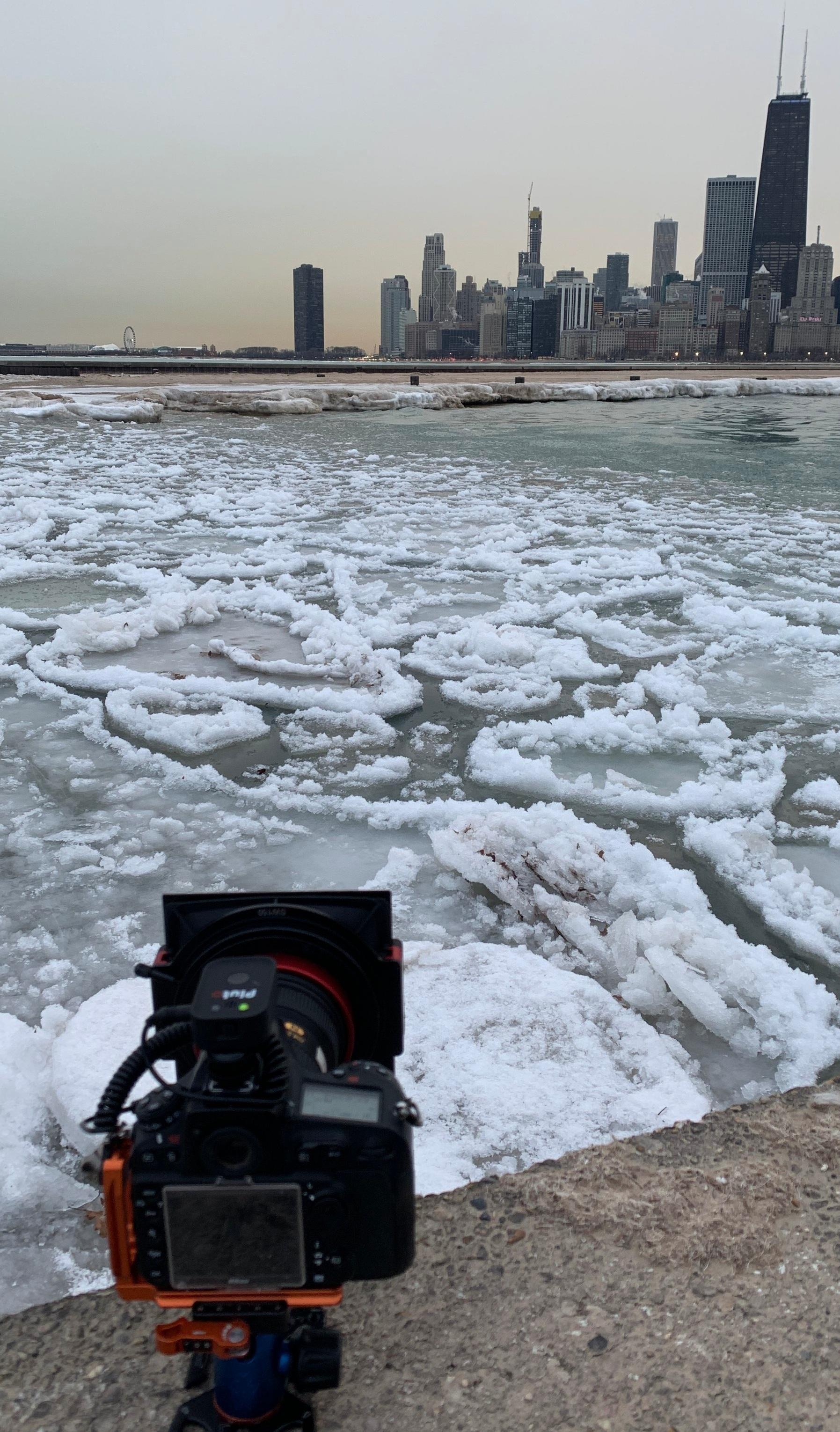 BTS+Chicago+frozen+Lake+Michigan