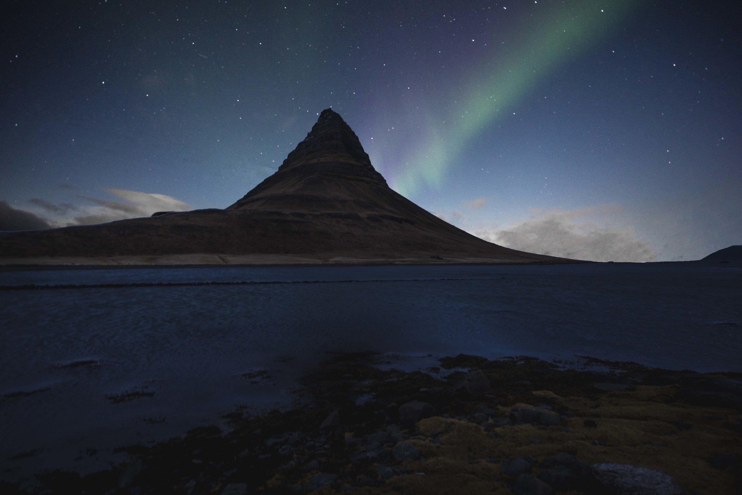 Northern lights long exposure platypod tripod