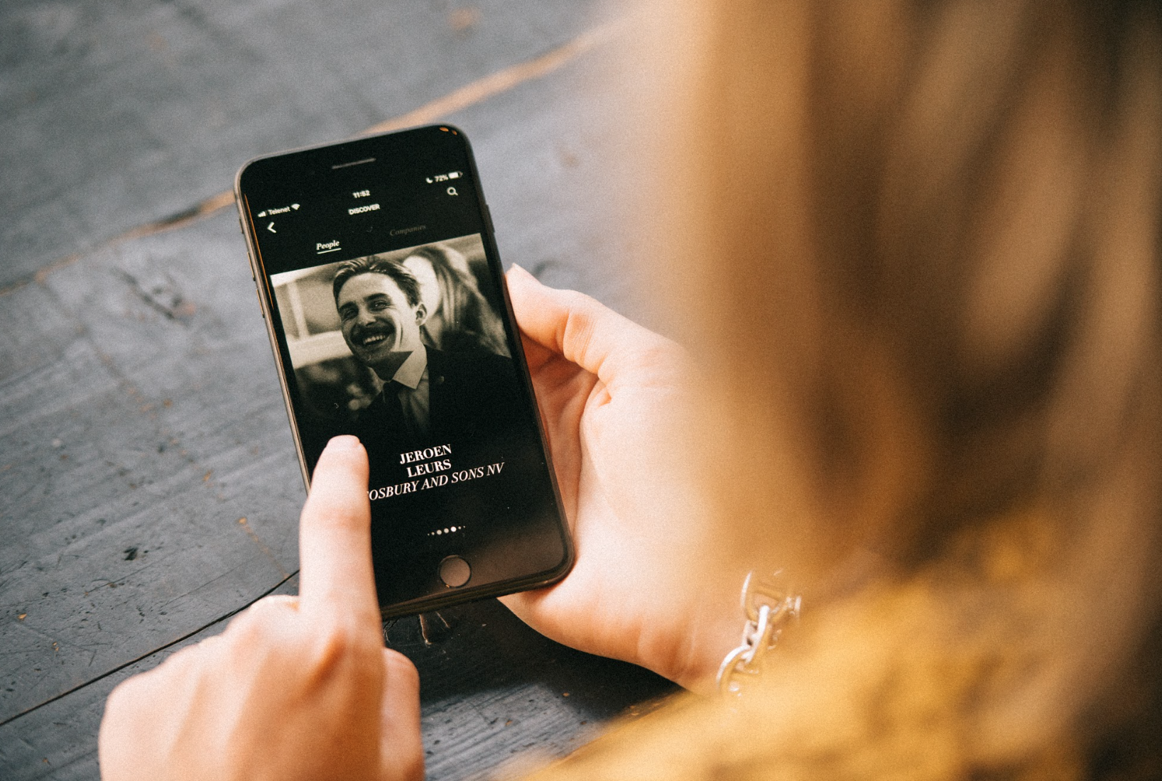 The Fons Jr. app interface. Photography by Jeroen Leurs.