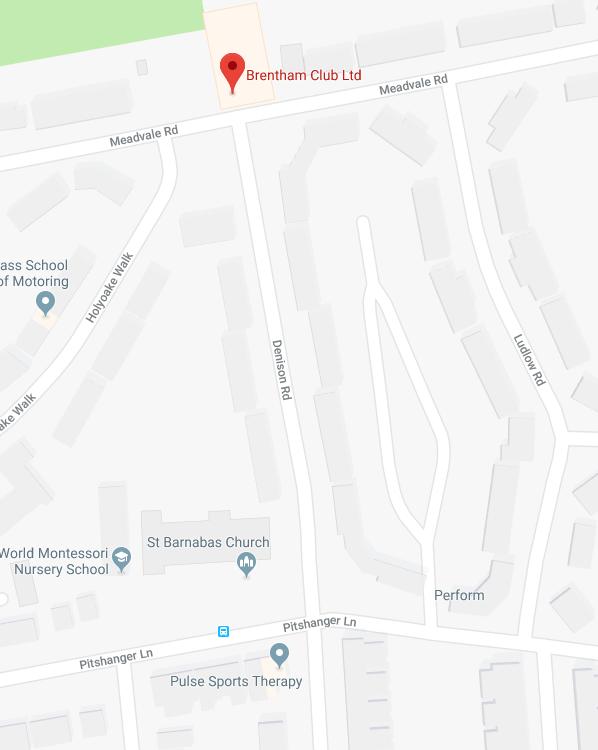 Brentham club on a map