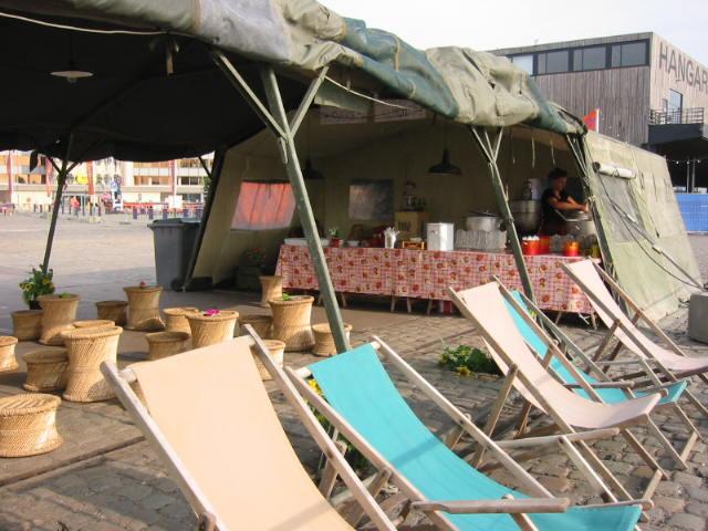 Zomer van Antwerpen strandstoelen