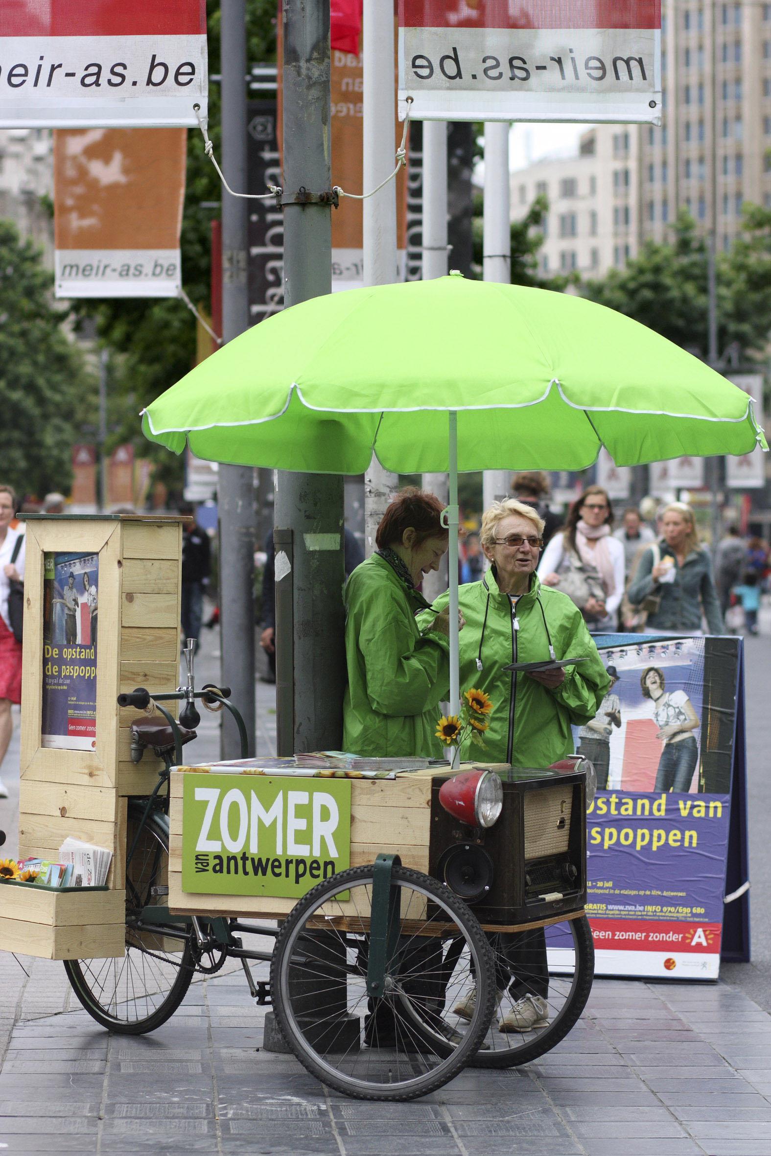 Zomer van Antwerpen fiets meir