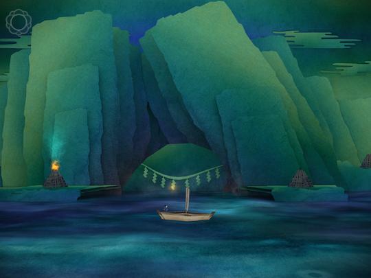 乘著一紙輕舟,途經巨大磐座時聽見一陣低鳴...