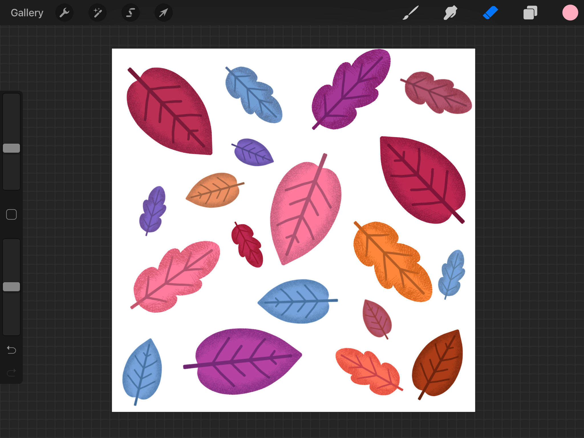 how to create Leaf Pattern on iPad