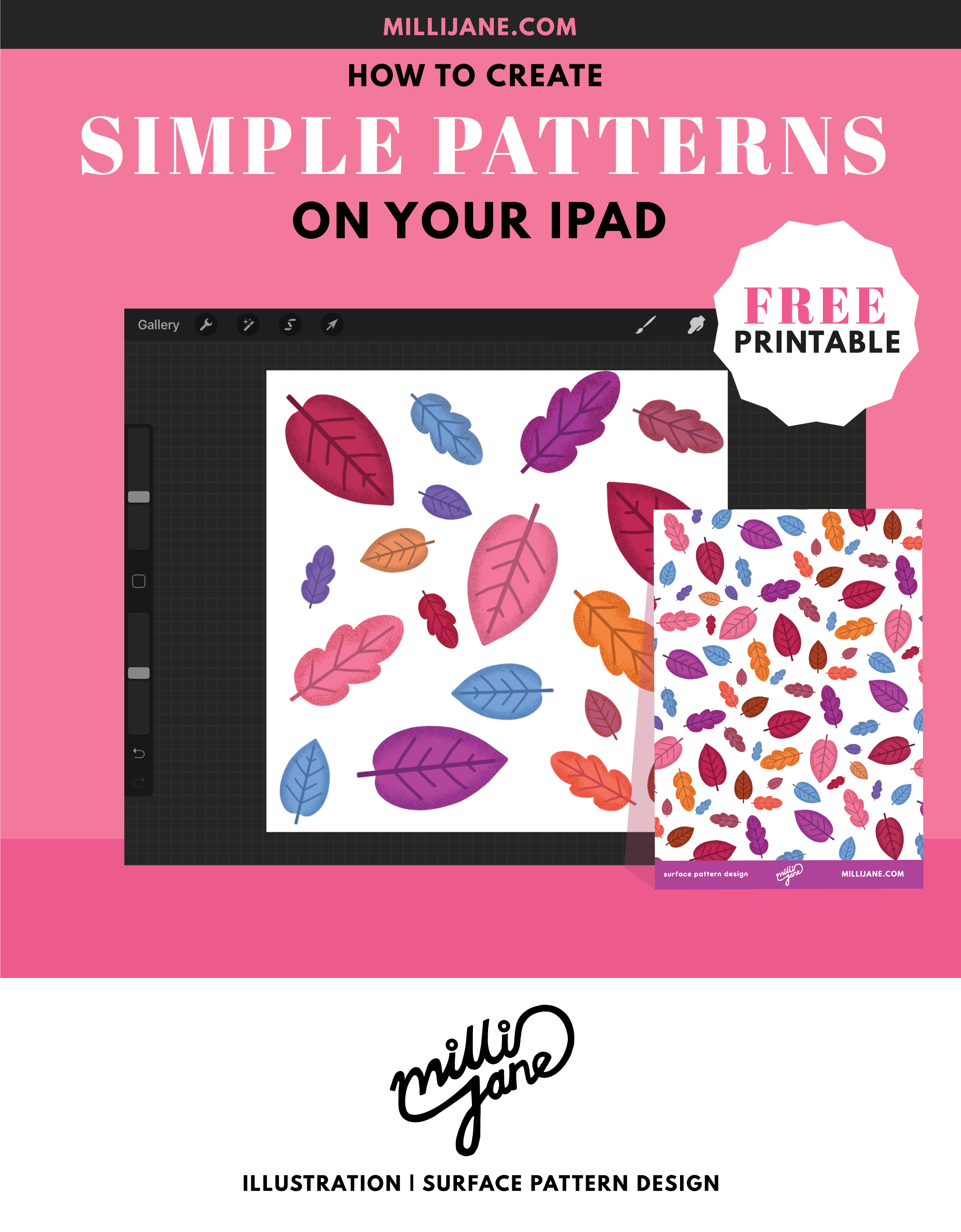 how to create simple patterns on your iPad