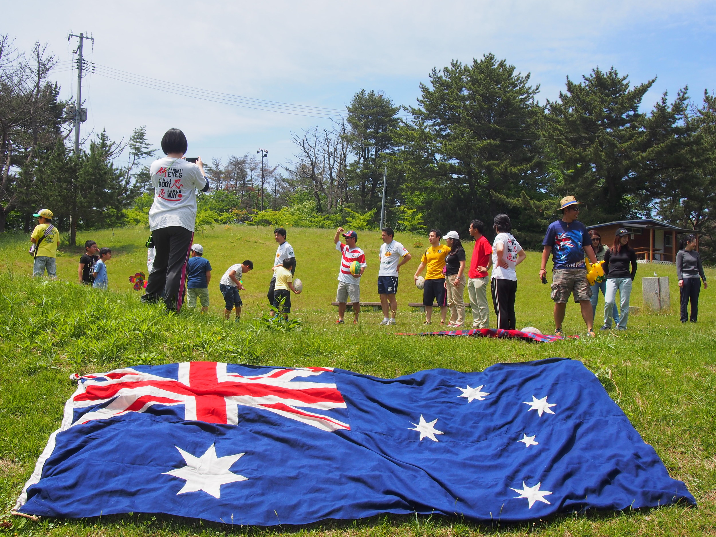 The international community makes it's presence known at our May pick-up Rugby BBQ event!