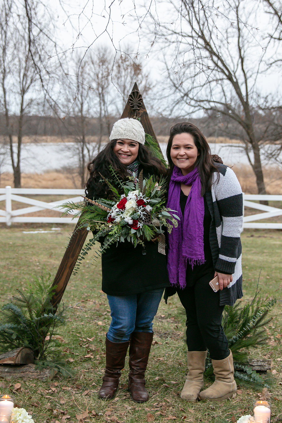Terri of Uy-Lennon Floral & Christina of Dos Goats Plans