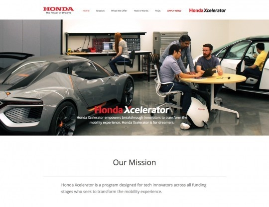 Honda Xcelerator Website