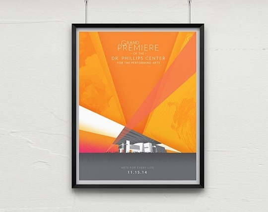 Silver Addy Award – Dr. Phillips Center Poster - Advertising for the Arts and Sciences Collateral – Poster
