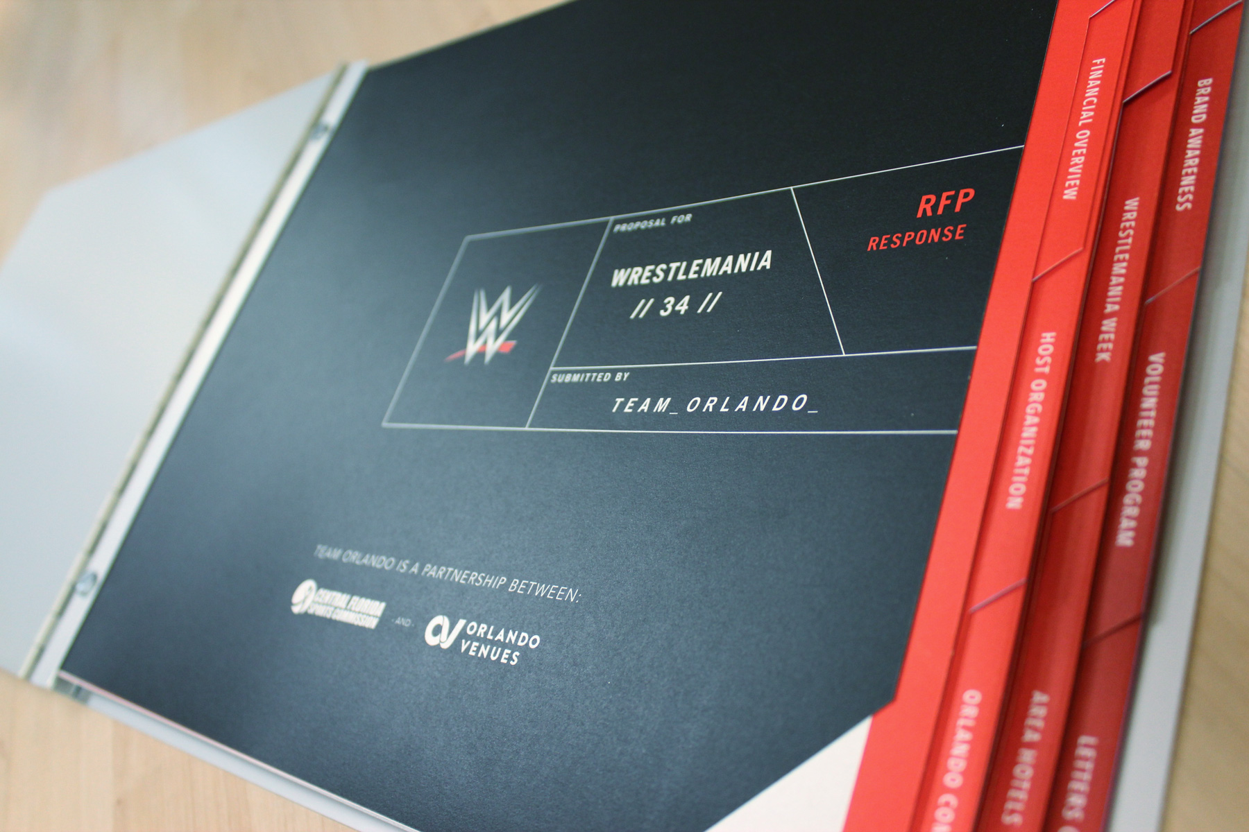 Wrestlemania Meets Orlando Proposal Booklet - Open
