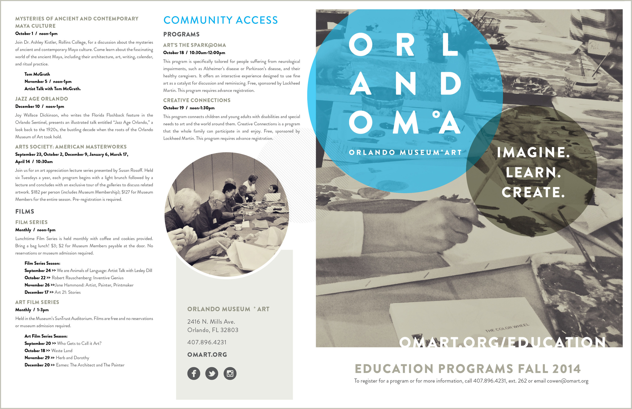 Orlando Museum of Art - Education 11 x 17 Folded Fall Program