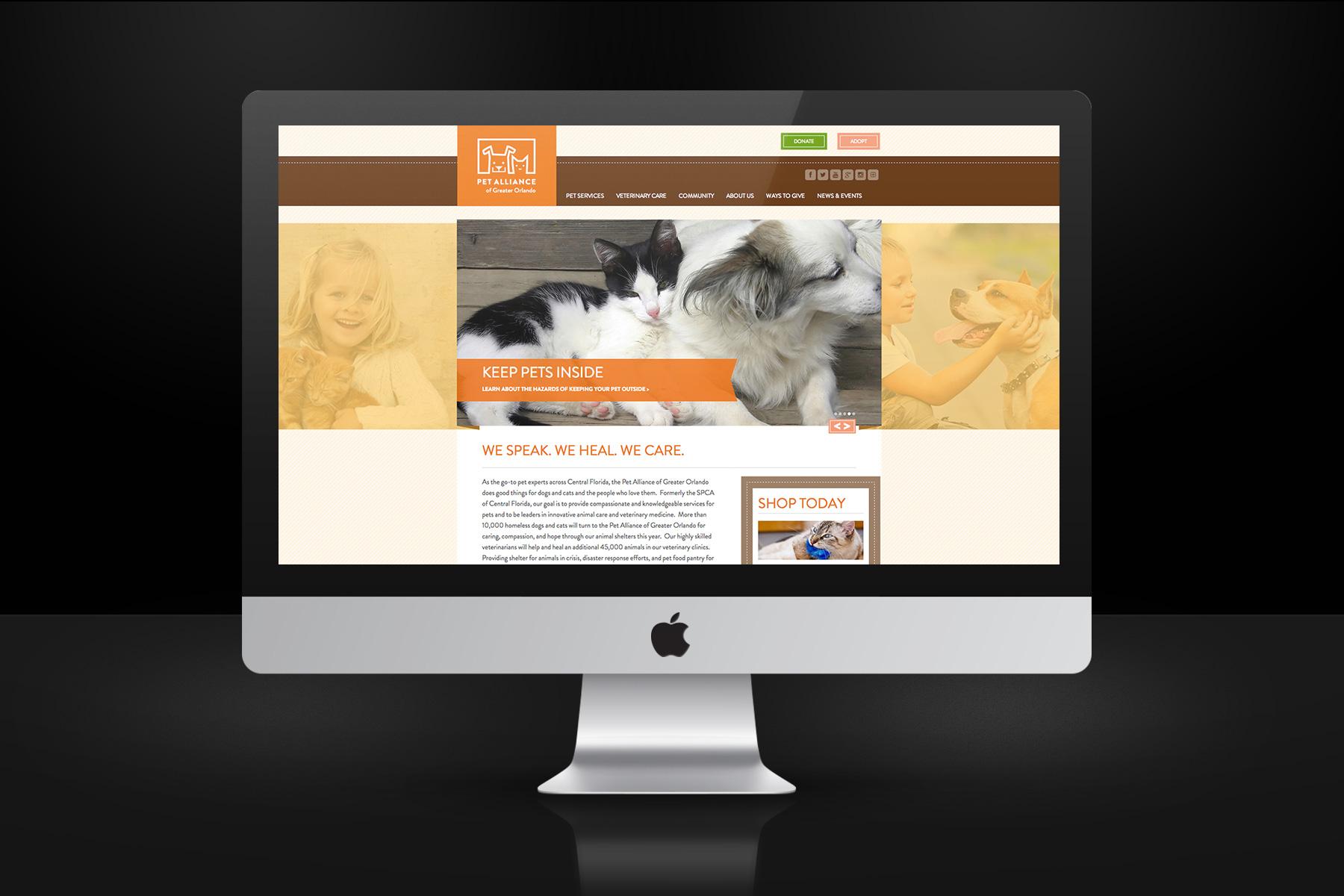 Pet Alliance of Greater Orlando Website