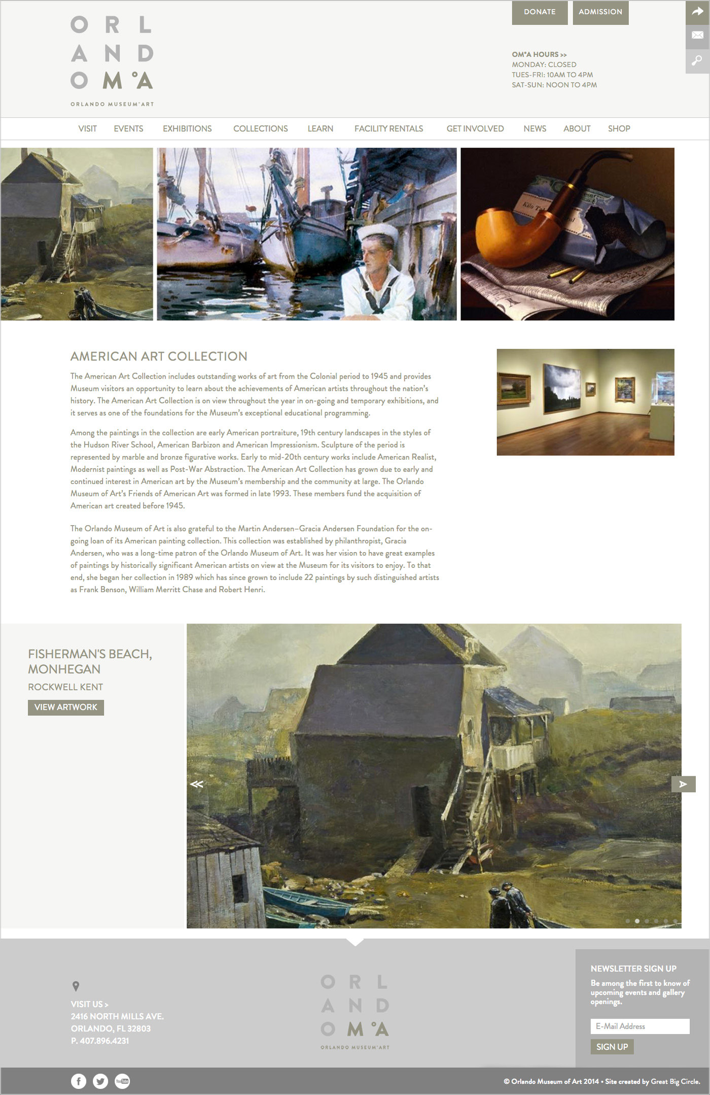 Orlando Museum of Art Collections Page