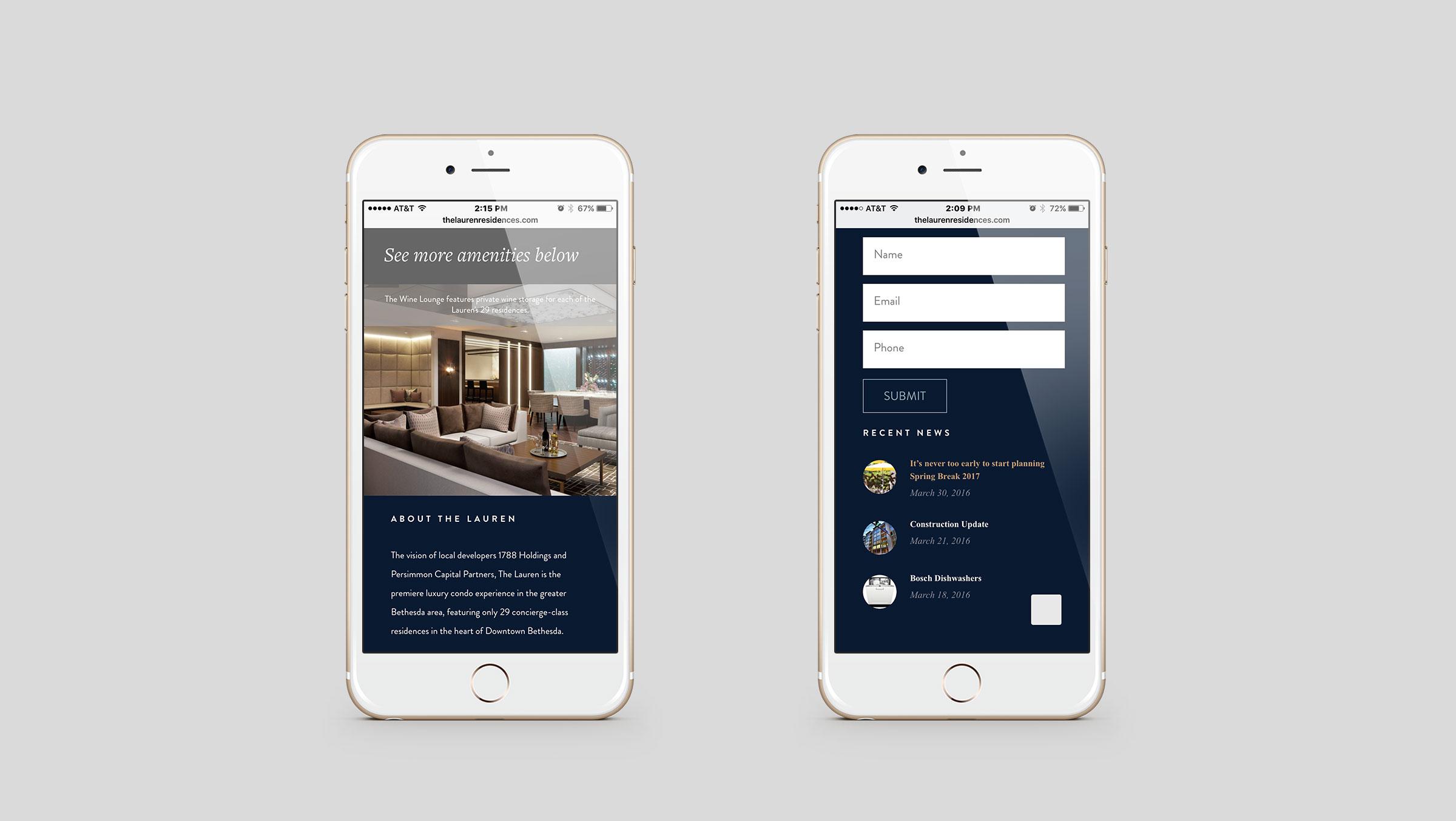 The Lauren Residences Mobile Site