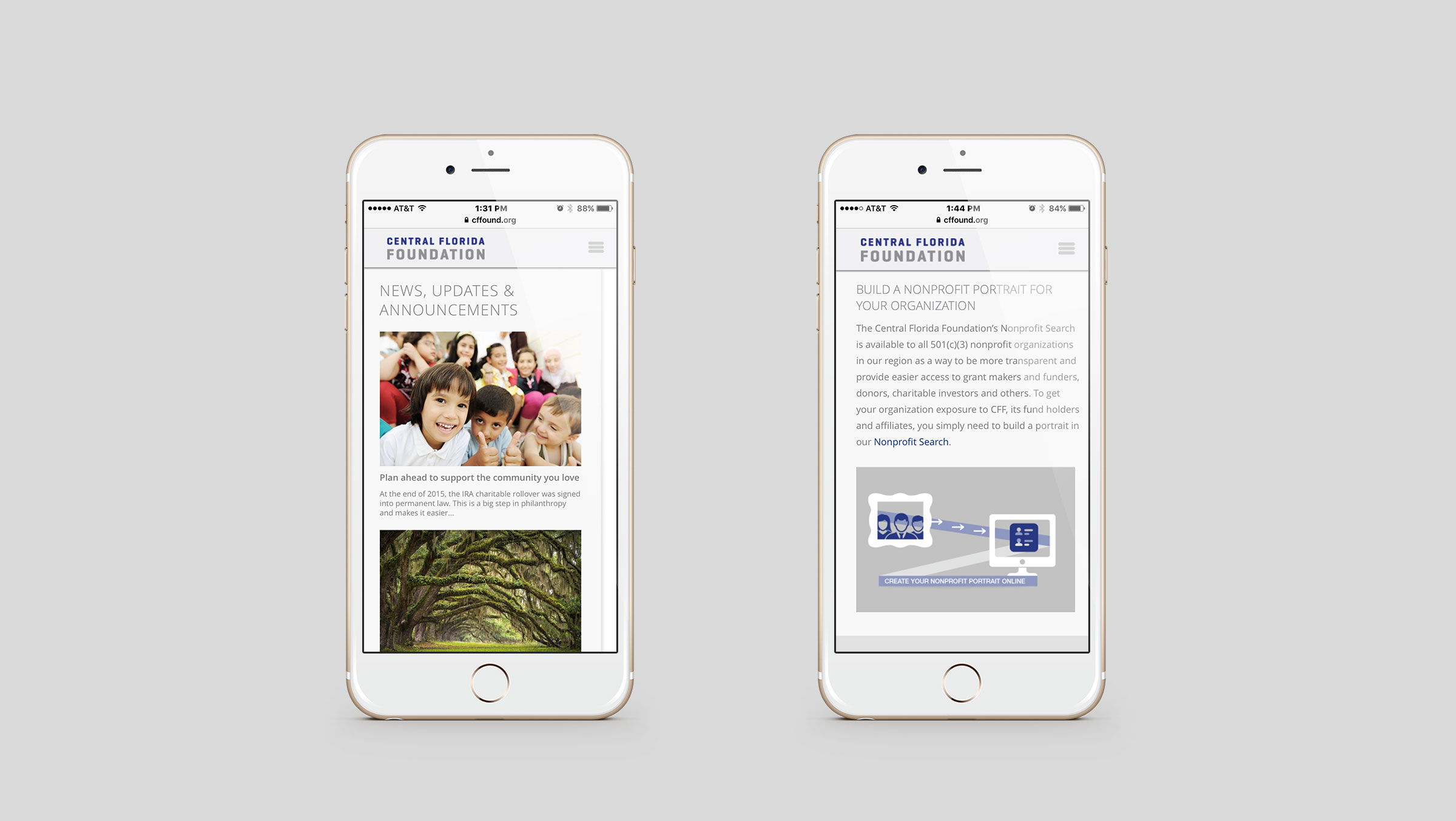 Central Florida Foundation Mobile Site