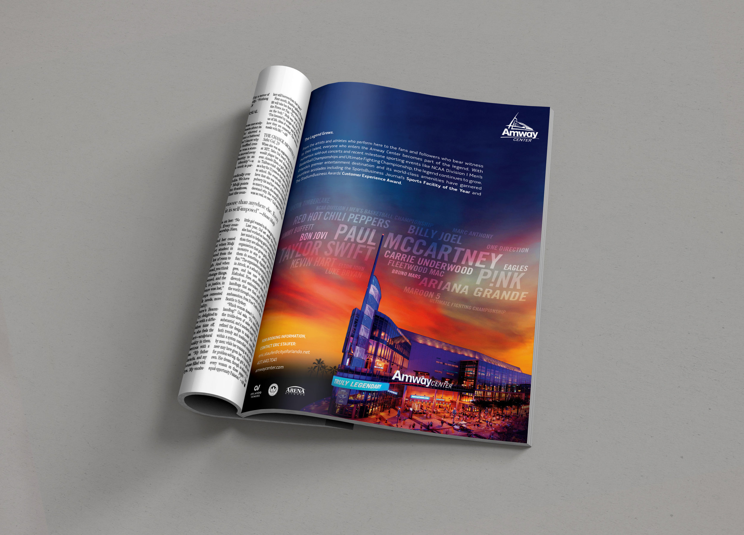 Amway Center Print Ad