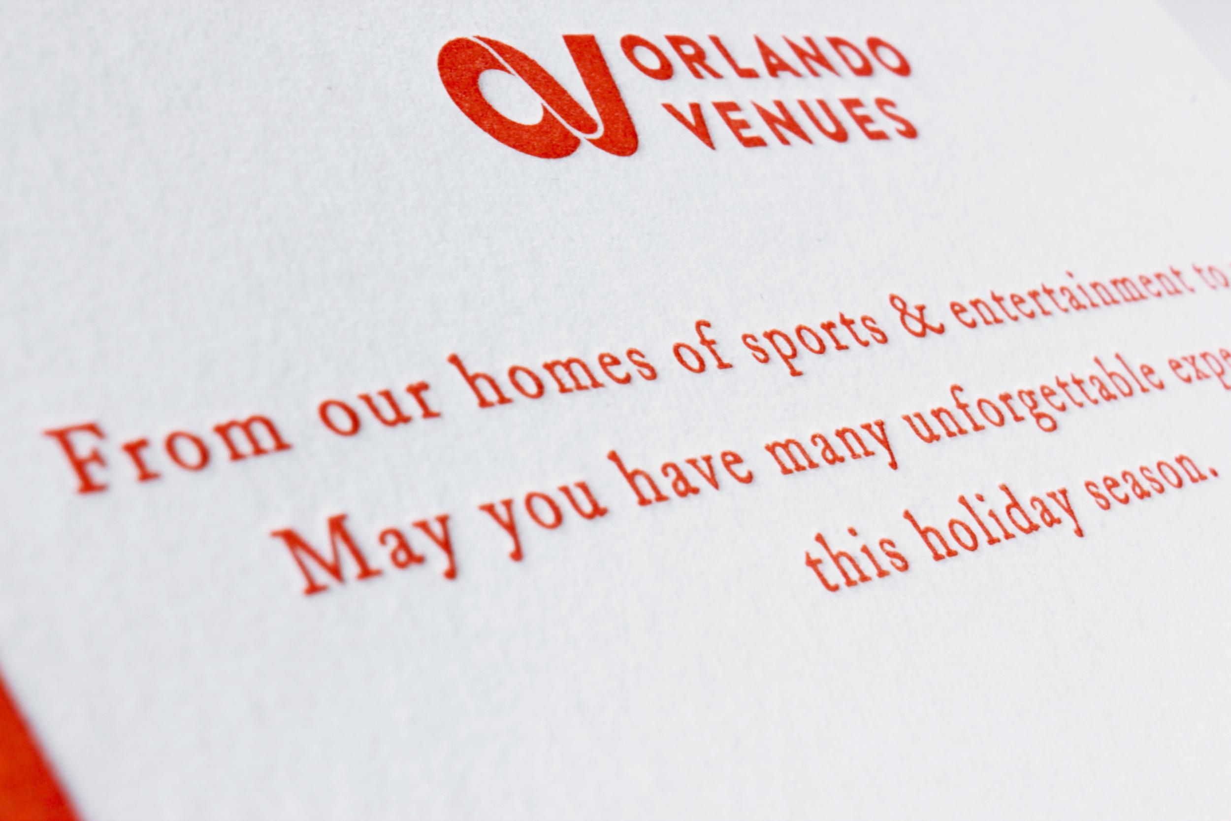 Orlando Venues Letterpressed Holiday Card