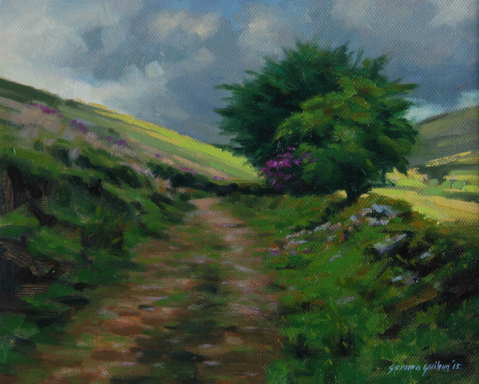 """""""Blustery Day """"    Oil on Board    7"""" x 9"""""""