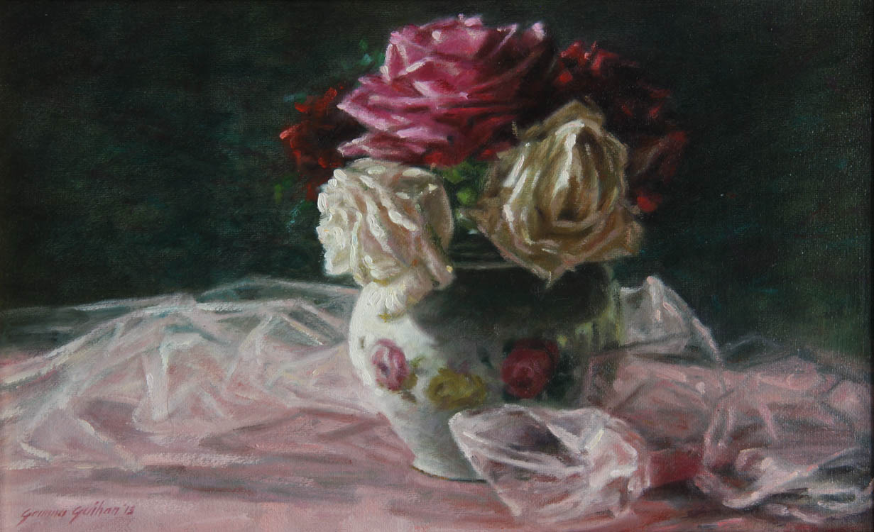 """Summer Bouquet""     Oil on Canvas    10"" x 16"""
