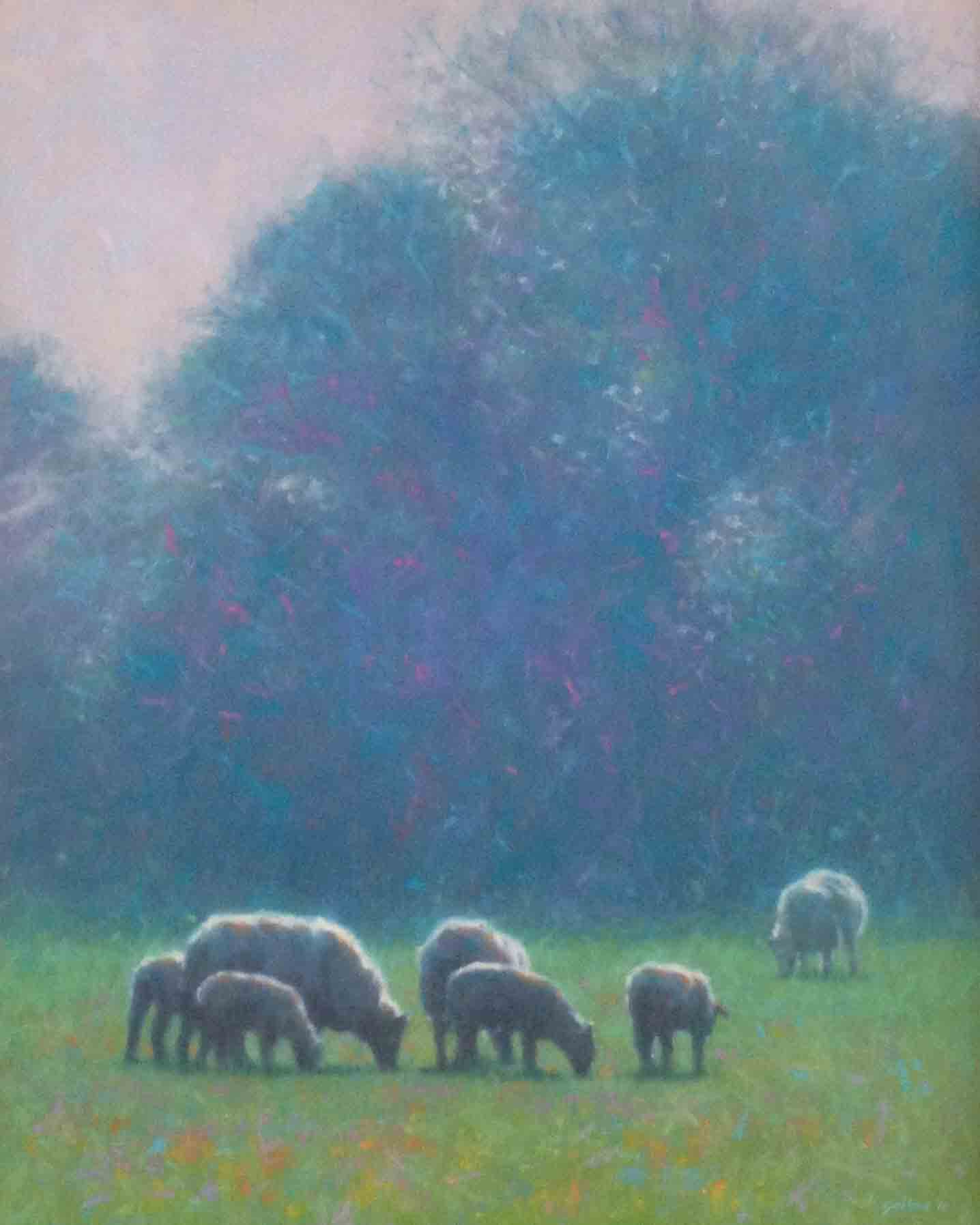 """Haze on the Meadow""                   Oil on Canvas                       20 ins x 16 ins"